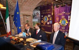 Il Governatore Gian Costa, il Presidente Mauro Imbrenda, il secondo Vice Governatore Erminio Ribet