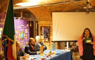 Il Governatore Gian Costa, il Presidente Mauro Imbrenda, il secondo Vice Governatore Erminio Ribet, il Cerimoniere Maria Sabini