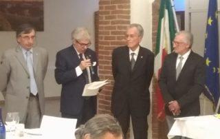 Il Nuovo Socio Giuseppe Fiore. Da sinistra Casazza, Narciso, Cerutti